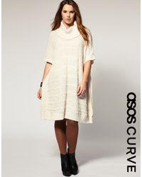 ASOS Collection Asos Curve Textured Jumper Dress - Lyst