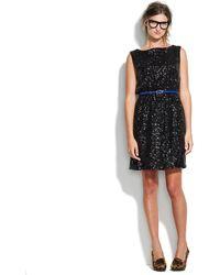 Madewell Sequin Lightbox Dress - Black