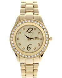 Oasis Gold Plated Bracelet Watch - Metallic