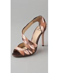 B Brian Atwood Lunetta High Heel Sandals - Lyst