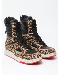 Diet Butcher Slim Skin Leopard Print High Top Sneakers - Lyst