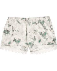Erdem Catrina Floral-print Silk-satin Shorts - Multicolor