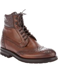 Fabi Brogue Boot - Lyst