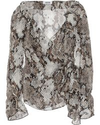 Moschino Cheap & Chic Snake-Print Wrap Blouse animal - Lyst
