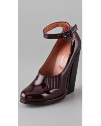 Opening Ceremony By Robert Clergerie Paul Patent Platform Pumps - Lyst