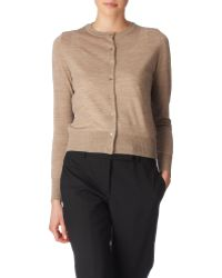 Paul Smith Black Label Knit Swirl Back Cardi - Lyst