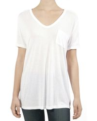 T By Alexander Wang Classic Pocket Tee white - Lyst