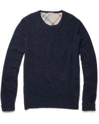 Burberry Brit Bertram Crew Neck Cashmere Sweater - Lyst