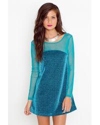 Nasty Gal Sasa Sparkle Dress - Peacock - Lyst