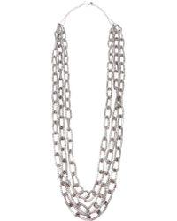 Philippe Audibert Chain Necklace silver - Lyst