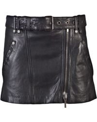 Plein Sud Jeanius - Mini Leather Skirt - Lyst