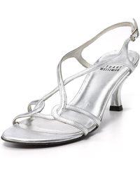 Stuart Weitzman Evening Sandals - Reversal Mid Heel - Lyst