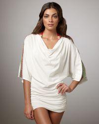 Cecilia Prado Marisa Crochet-sleeve Coverup - Lyst