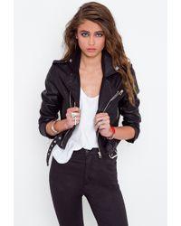 Nasty Gal Moto Zip Crop Jacket - Lyst