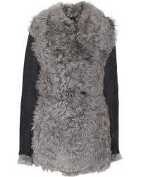 Rag & Bone Preorder Shearling Helsinki Coat: Charcoal - Grey