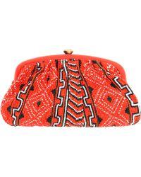 Santi - Navoho Tribal Beaded Clutch Bag - Lyst