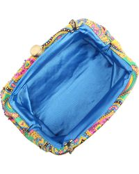 Santi - Silk Paisley Print Beaded Clutch Bag - Lyst