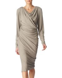 Donna Karan New York Draped Dress - Lyst