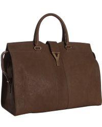 Saint Laurent Leather Cabas Tote Bag - Lyst