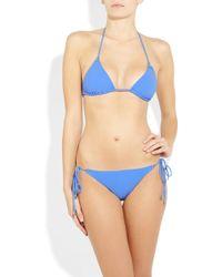 Shimmi Birkin Triangle Bikini - Blue
