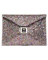 Kara Ross - Exclusive Prunella Glitter Envelope Clutch - Lyst