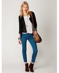 Free People Washed Woven Skinny Crop - Lyst