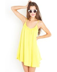 Nasty Gal Lemon Drop Dress - Lyst