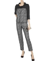 Valentino Roma Lace Pant Suit - Grey