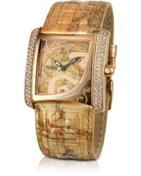 Alviero Martini 1A Classe - 1a Prima Classe - Ladies Crystal Geo Gold Plated Watch - Lyst