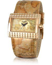 Alviero Martini 1A Classe - 1a Prima Classe - Ladies Gold Plated Geo Rectangular Dial Watch - Lyst
