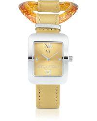 Antica Murrina Calypso - Murano Glass Link Watch - Orange