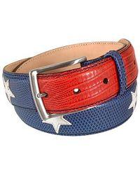 Manieri Stars And Stripes Patchwork Leather Belt - Lyst