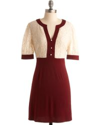ModCloth Seine Sunset Dress - Lyst