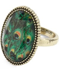 ModCloth One Eye On The Pea-clock Ring - Lyst