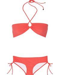 Shimmi Stella Bandeau Bikini - Orange