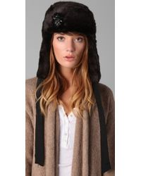 Juicy Couture - Middlebury Cable Fur Trapper Hat - Lyst