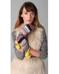 Juicy Couture - Bowdoin Fair Isle Short Gloves - Lyst