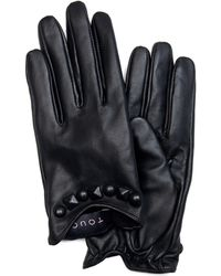 Mango Touch - Leather Gloves Stud - Lyst