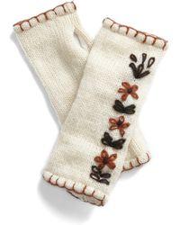 ModCloth - Between Seasons Wrist Warmers in Cream - Lyst