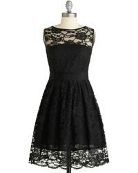 ModCloth When The Night Comes Dress - Lyst