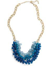 ModCloth Tidal Crave Necklace blue - Lyst