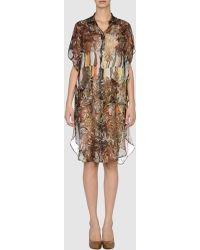 Paul Smith  3/4 Length Dress - Lyst