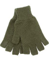 Dents Fingerless Gloves green - Lyst