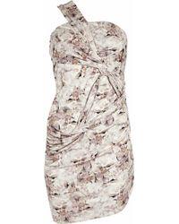 Aminaka Wilmont Oneshoulder Silk Jersey Dress - Lyst