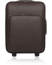 Bottega Veneta Intrecciato Leather Travel Trolley - Lyst