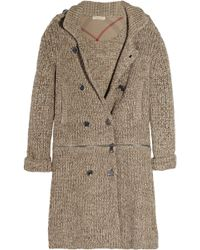 Burberry Brit - Knitted Cotton Cardi-Coat - Lyst