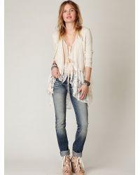 Free People Slim Straight Jeans - Lyst