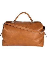 Calabrese Bags - Napoli Large Leather Doctors Bag - Lyst