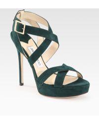 Jimmy Choo Sandal Heels - Lyst