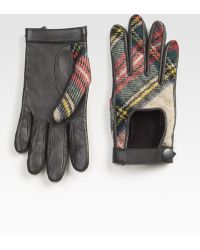 Rag & Bone The Quilted Driving Glove gray - Lyst